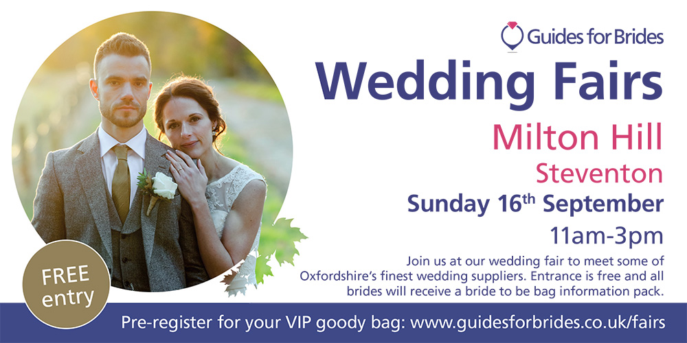 Come and see Suits Newbury at Milton Hill Wedding Fair 16th September 2018