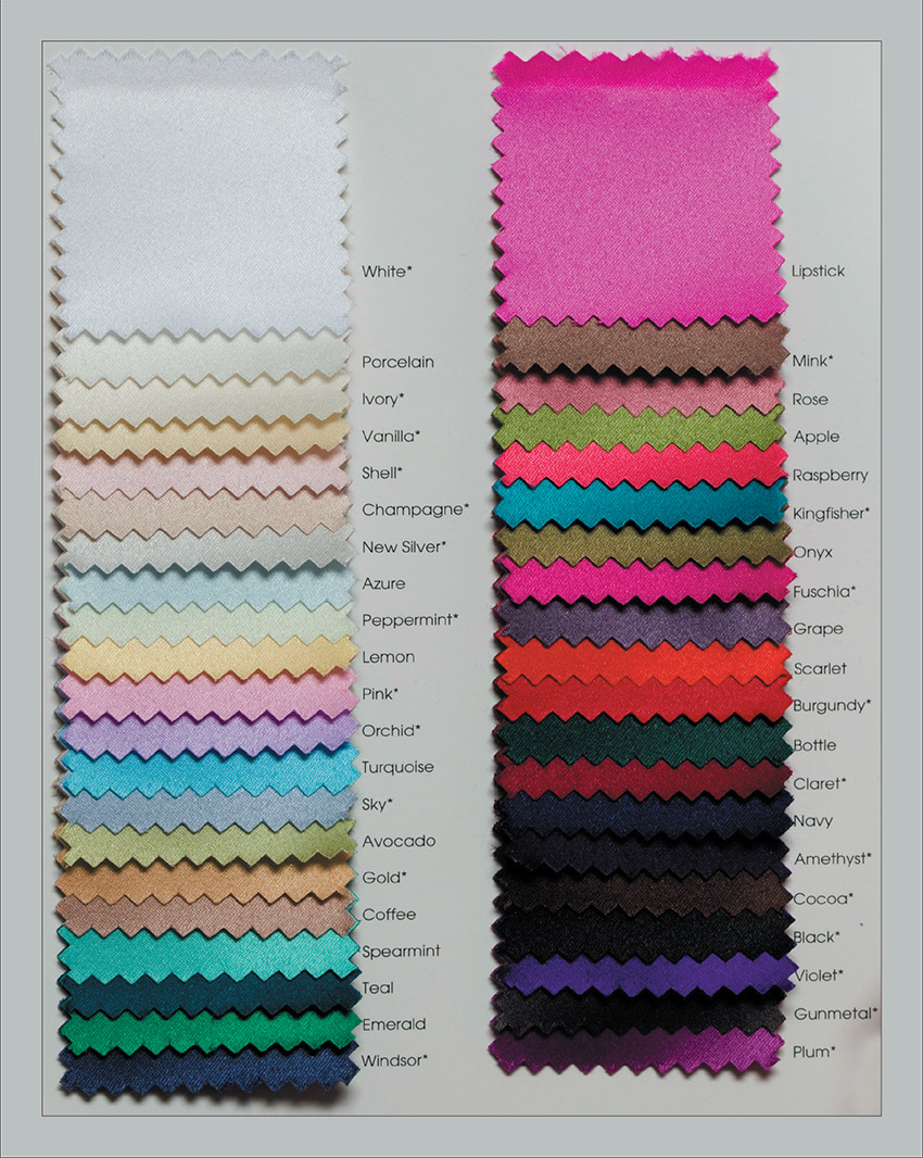 Neckwear colours Polyester Satin